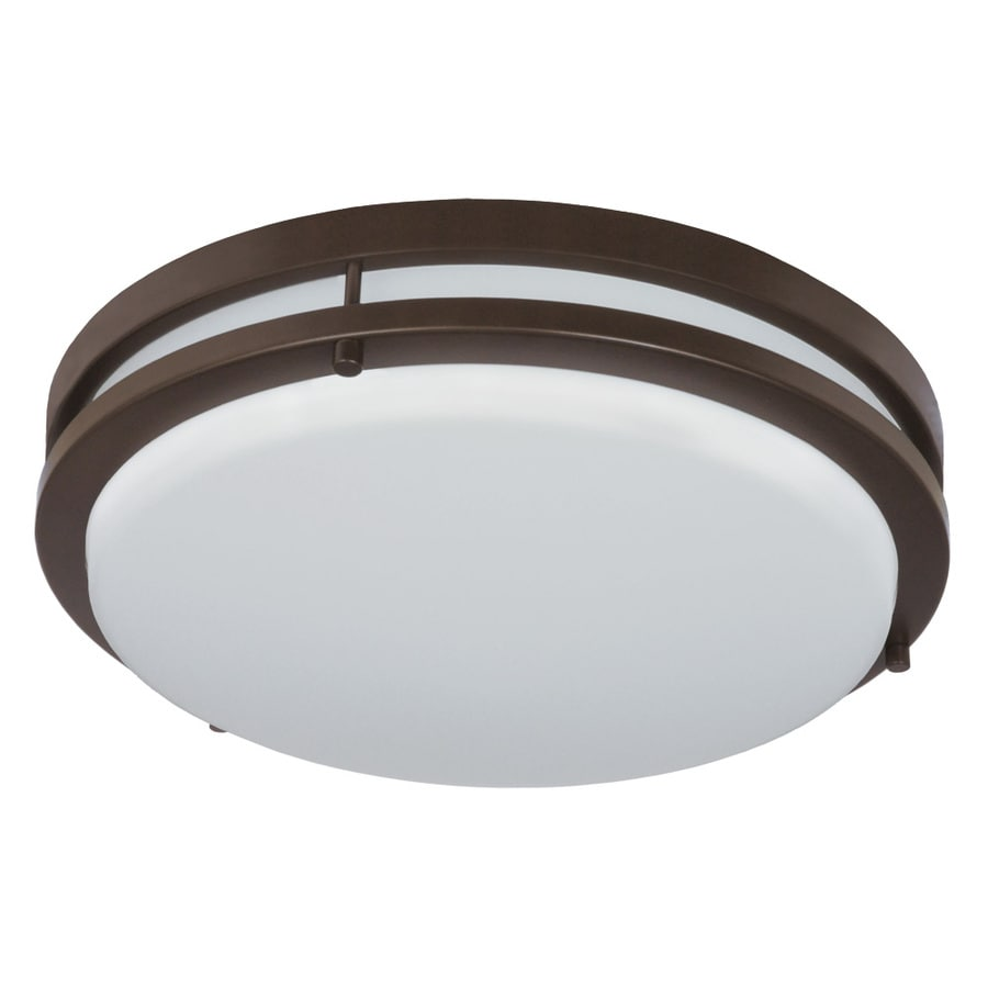 Good Earth Lighting Jordan 11-in W Light bronze LED Flush Mount Light ENERGY STAR