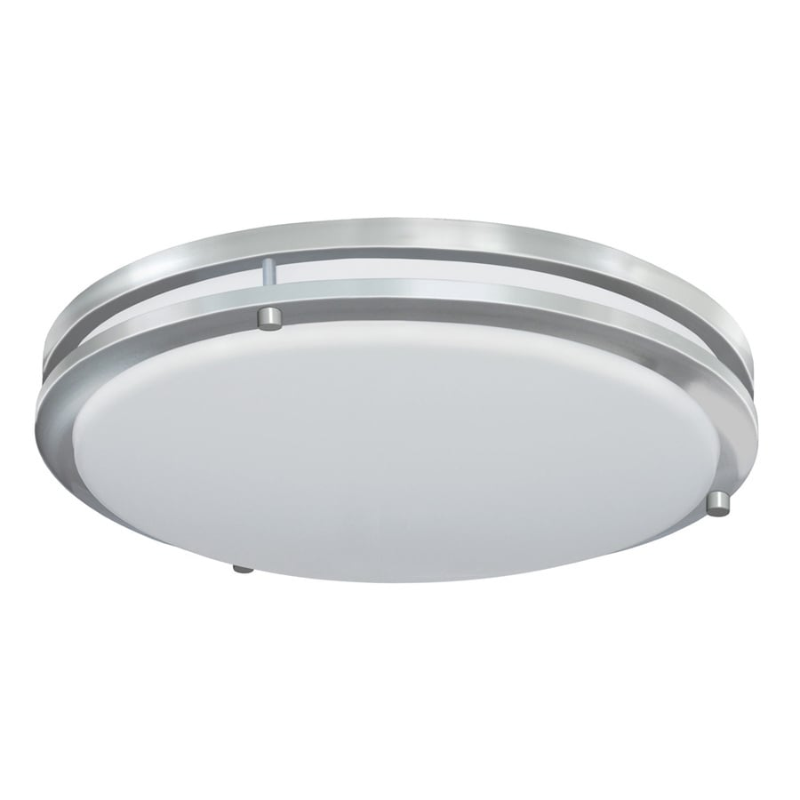 shop good earth lighting jordan 17 in w satin nickel led flush mount