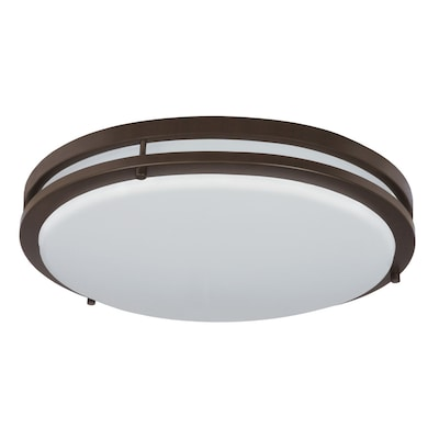 Jordan 17 In Bronze Transitional Led Flush Mount Light Energy Star