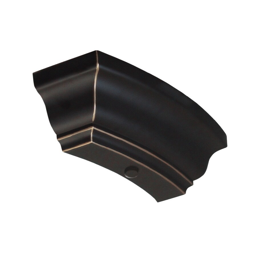 Good Earth Lighting 2-Pack Bronze Decorative End Caps