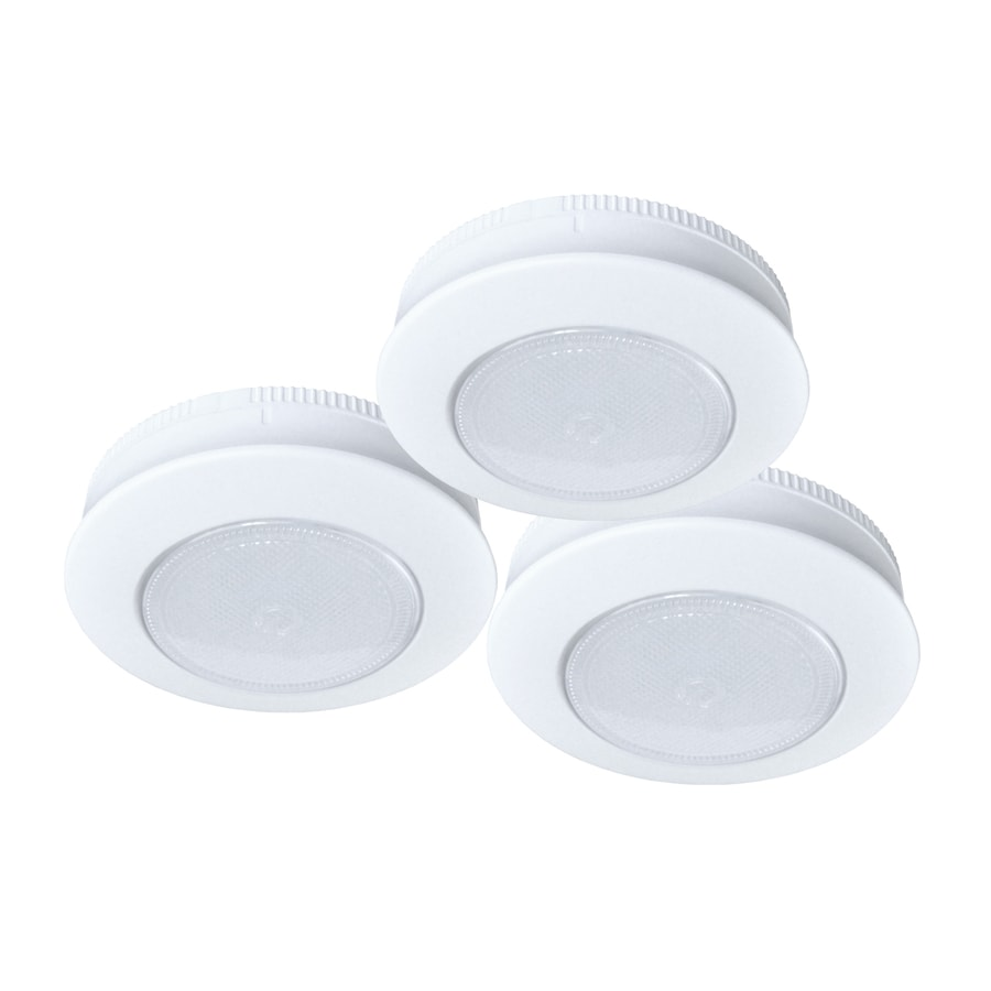 ecolight 3-Pack 3-in Battery Puck Lights
