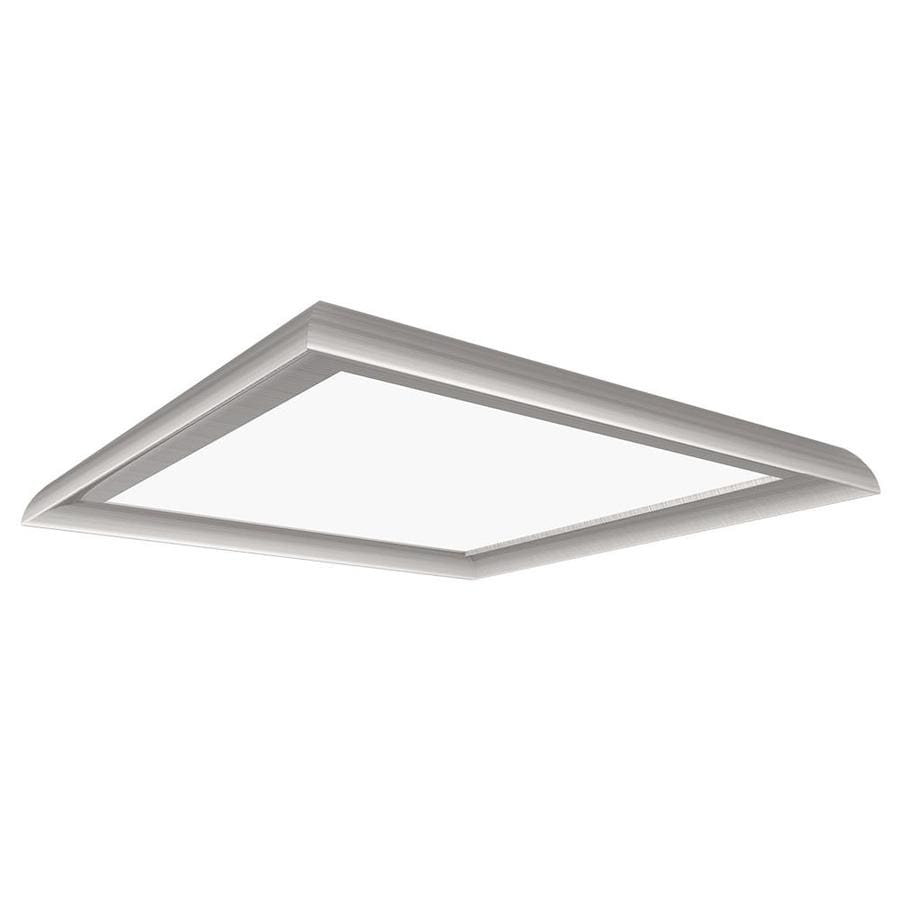 dimmable nickel flush lights bronze mount satin moreview inch led light ceiling lightbox main
