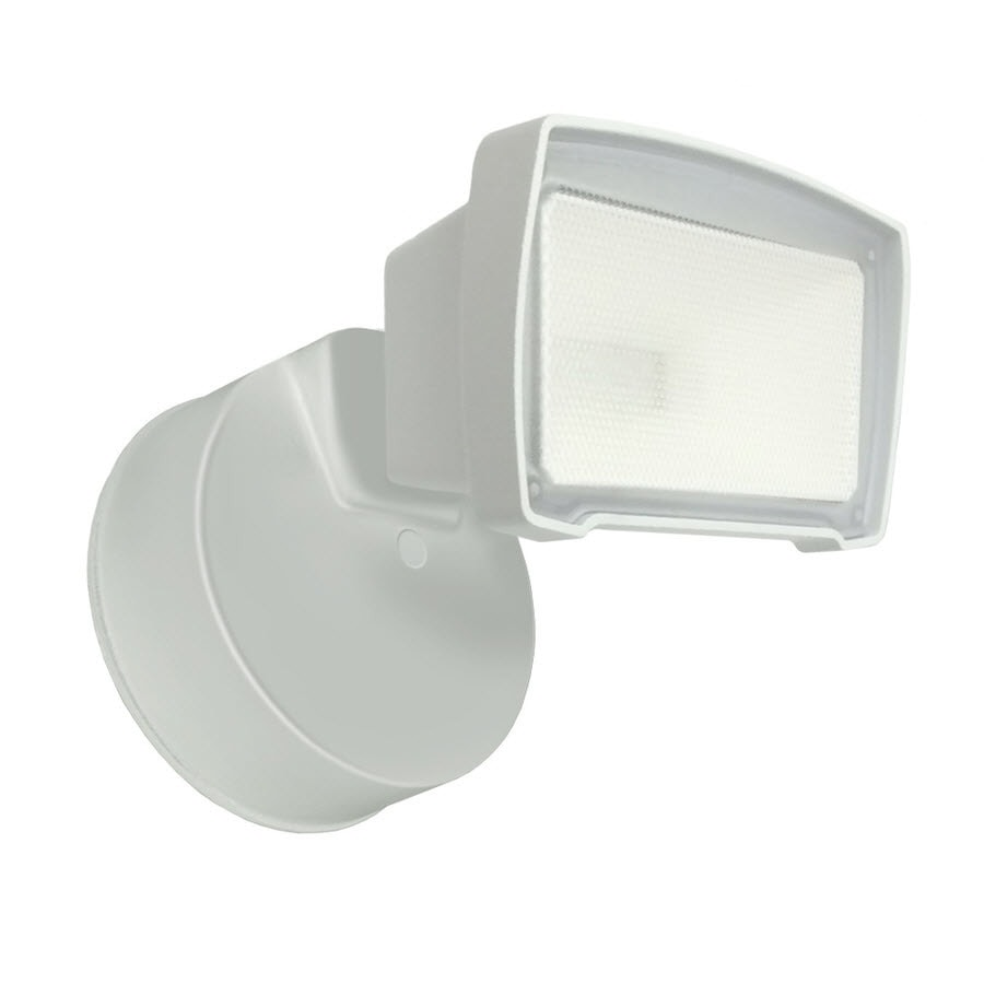 Good Earth Lighting 1-Head 25-Watt White LED Dusk-to-Dawn Flood Light