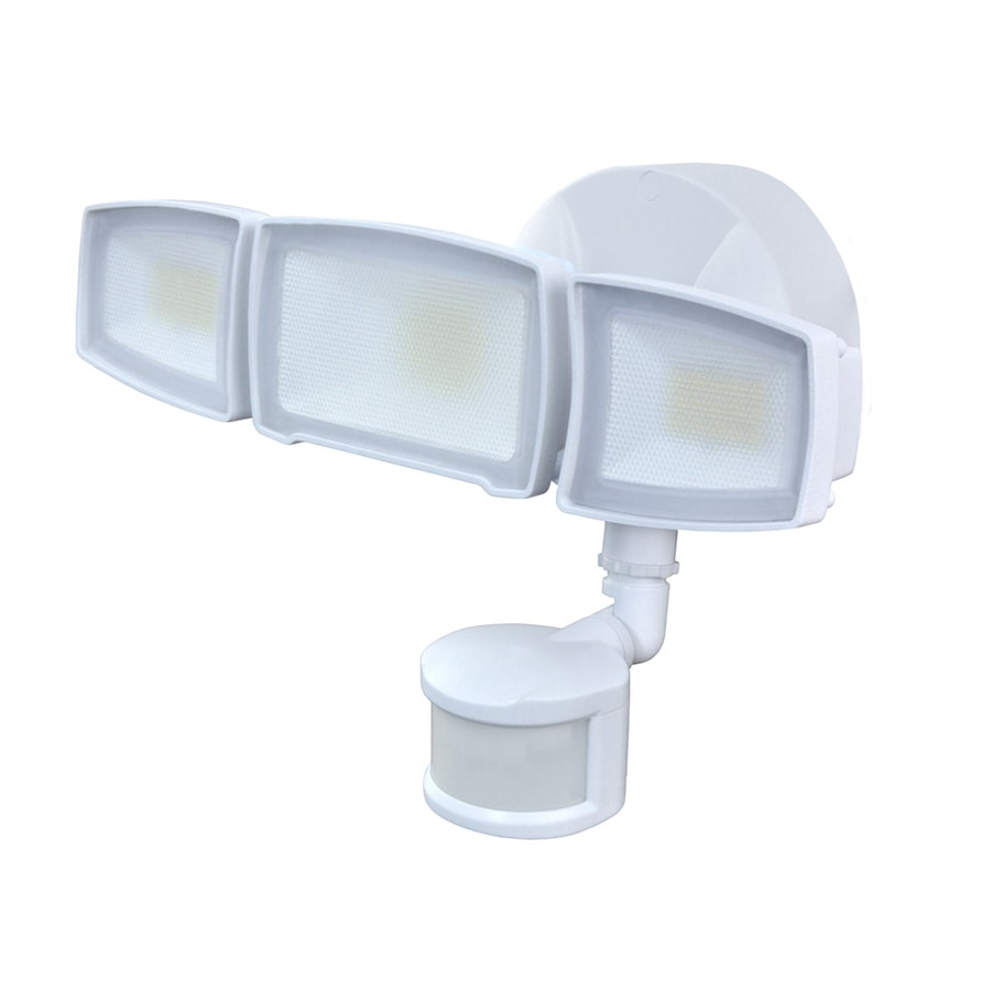 Good Earth Lighting 240 Degree 3 Head Dual Detection Zone White Led Motion