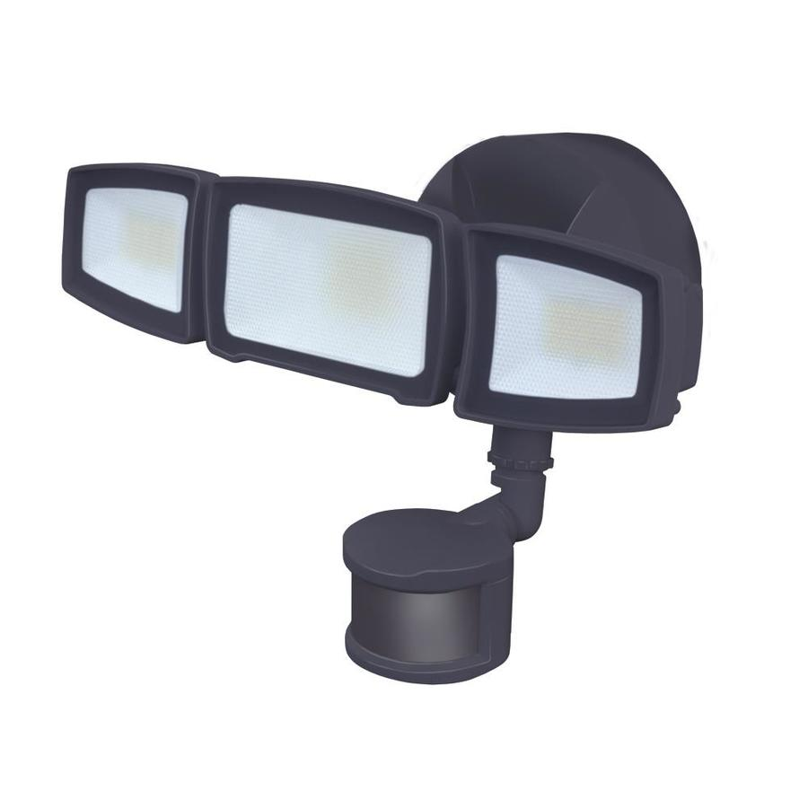 good earth lighting 240degree 3head dual detection zone bronze integrated led motion