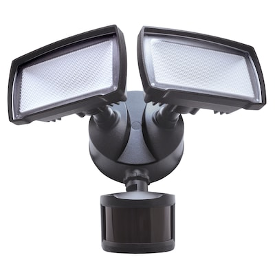 180 Degree 2139 Lumen Bronze Integrated Led Motion Activated Flood Light With Timer