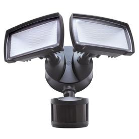 Good Earth Lighting 180 Degree 2 Head Bronze Led Motion Activated Flood Light