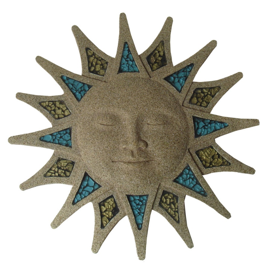 Shop garden treasures glass mosaic sun face wall art at lowes com