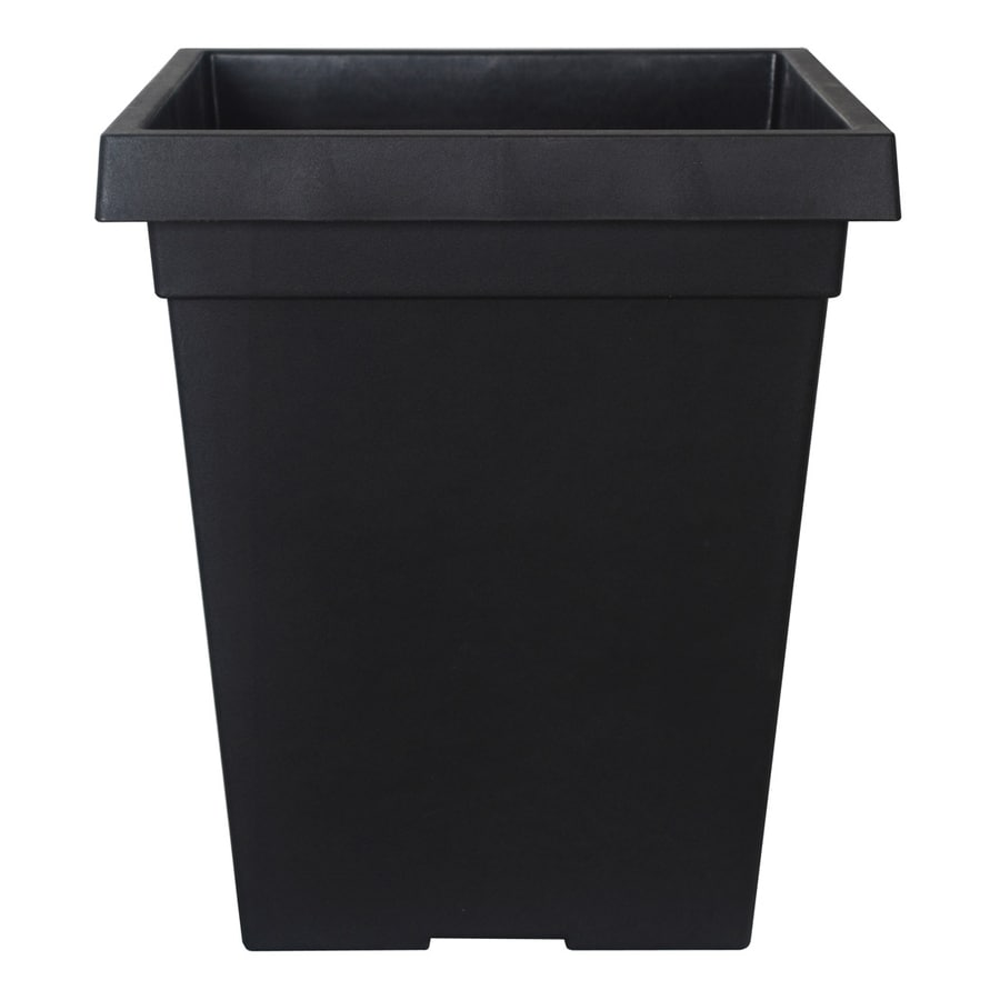 allen + roth 16-in H x 14-in W x 14-in D Black Plastic Window Box