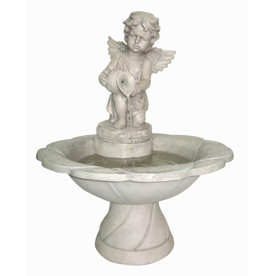 """Garden Treasures 30-5/7"""" Cherub Fountain"""