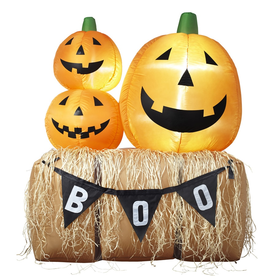 Holiday Living 6-ft x 4.92-ft Lighted Pumpkin Stack Thanksgiving Inflatable