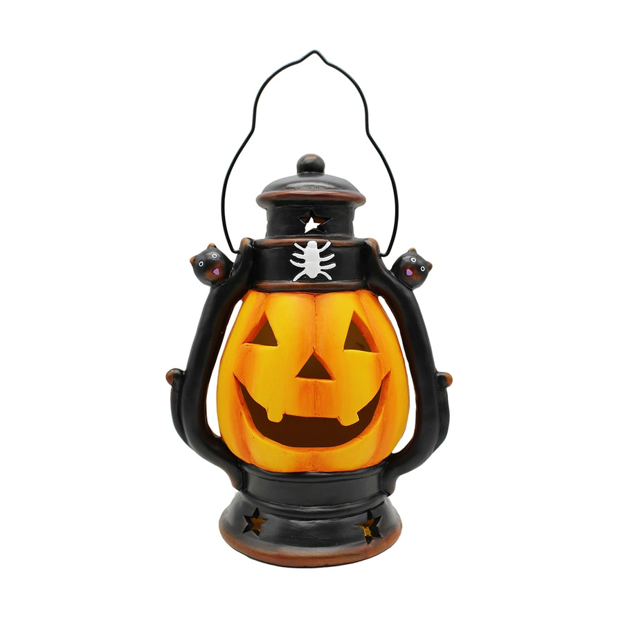 Holiday Living Pre-Lit Pumpkin Lantern with Twinkling Color Changing LED Lights