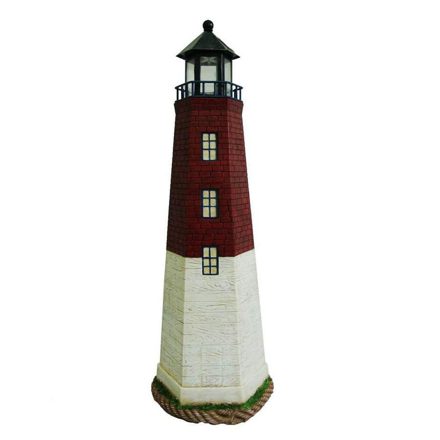 27 1/2 In H Solar Lighthouse Garden Statue