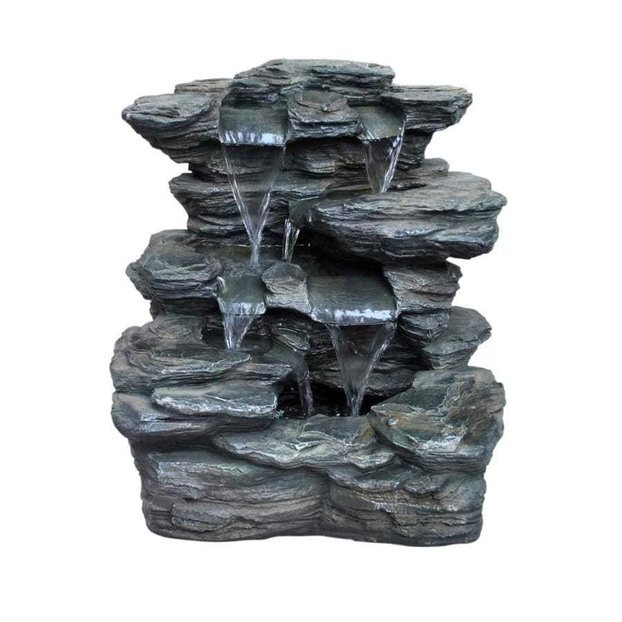 High Quality Garden Treasures Slate Rock Fountain