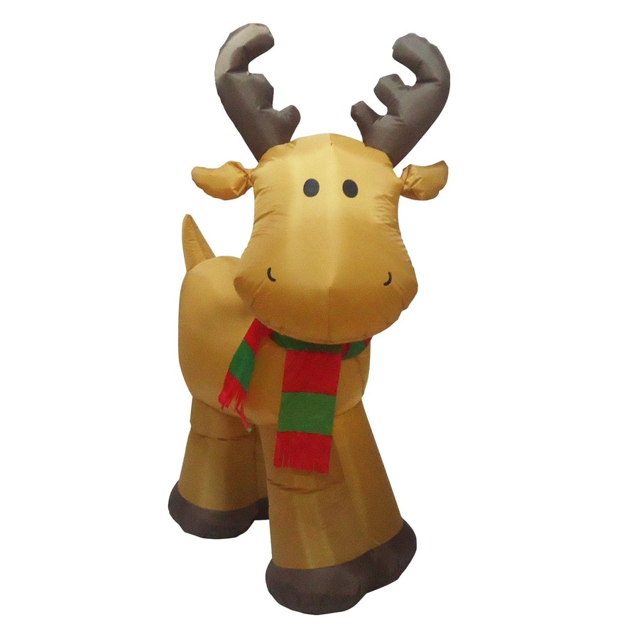 Lovely Holiday Living 5 Ft X 1.48 Ft Lighted Reindeer Christmas Inflatable