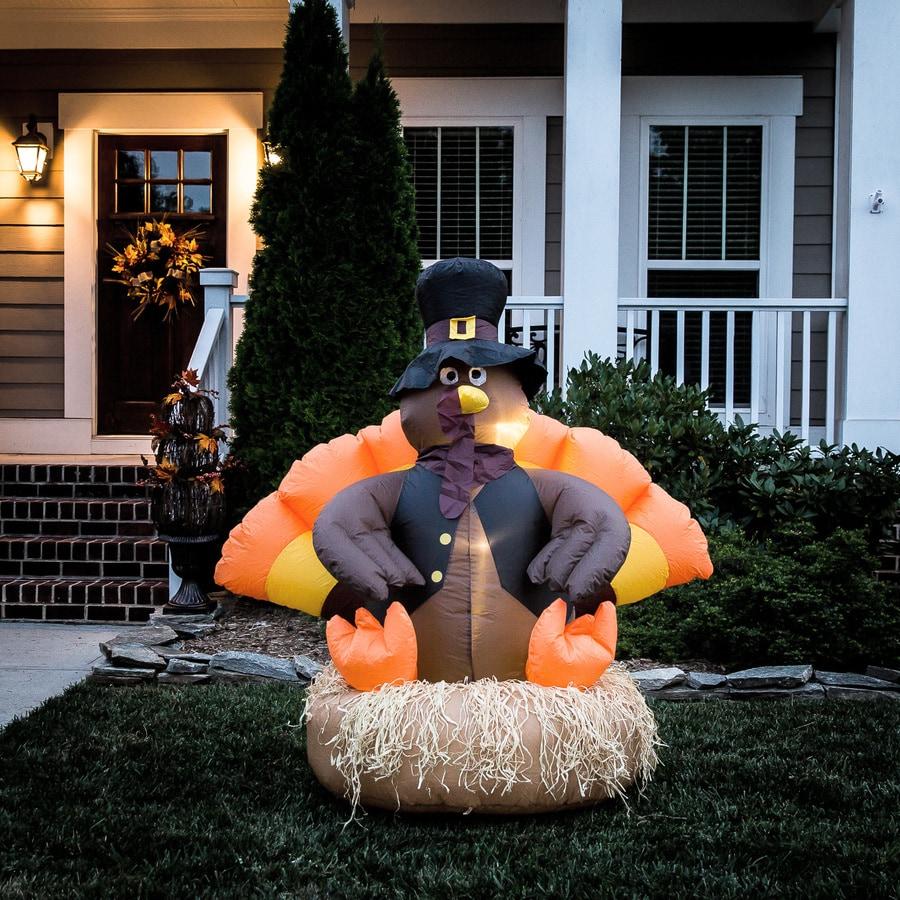Shop harvest ft lighted turkey thanksgiving