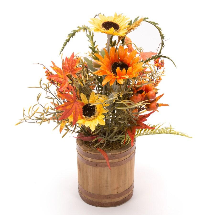 HARVEST Happy Harvest Flower Barrel