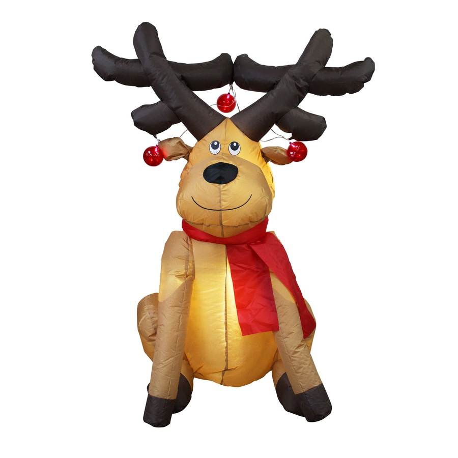 Holiday Living 4-ft x 2-ft Lighted Reindeer Christmas Inflatable