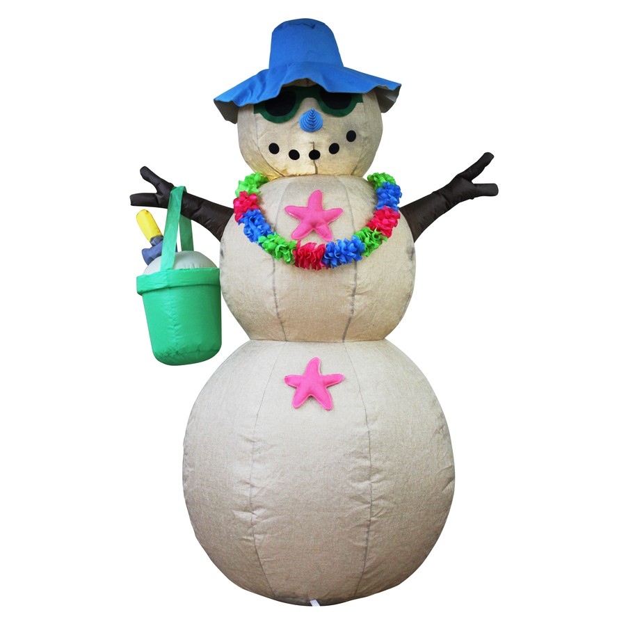 holiday living 6 ft x 4 ft lighted snowman christmas inflatable - Lowes Inflatable Christmas Decorations