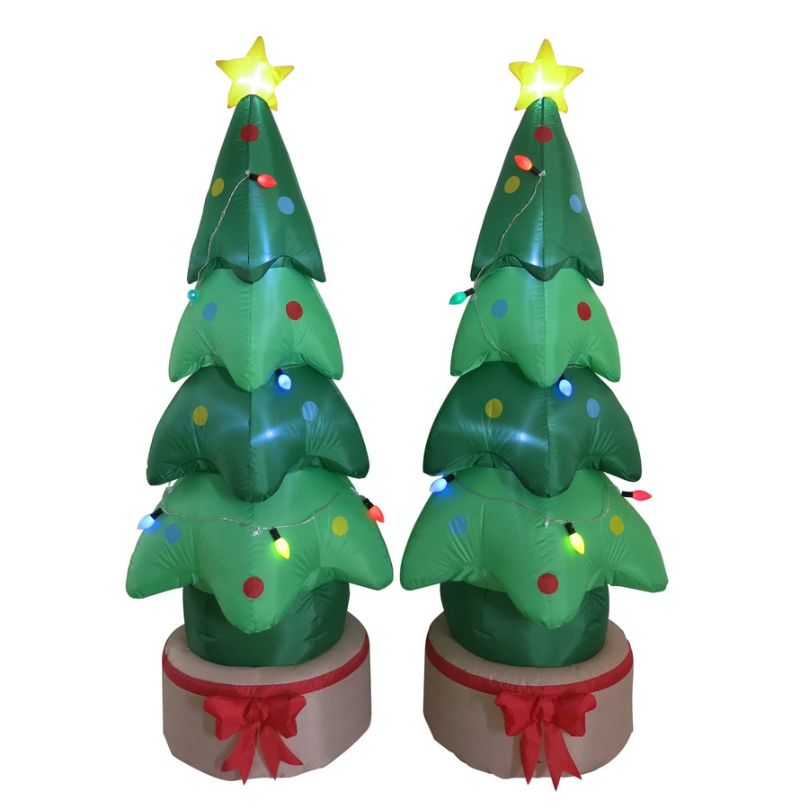holiday living 617 ft x 236 ft lighted christmas tree christmas inflatable - Lowes Lighted Christmas Decorations