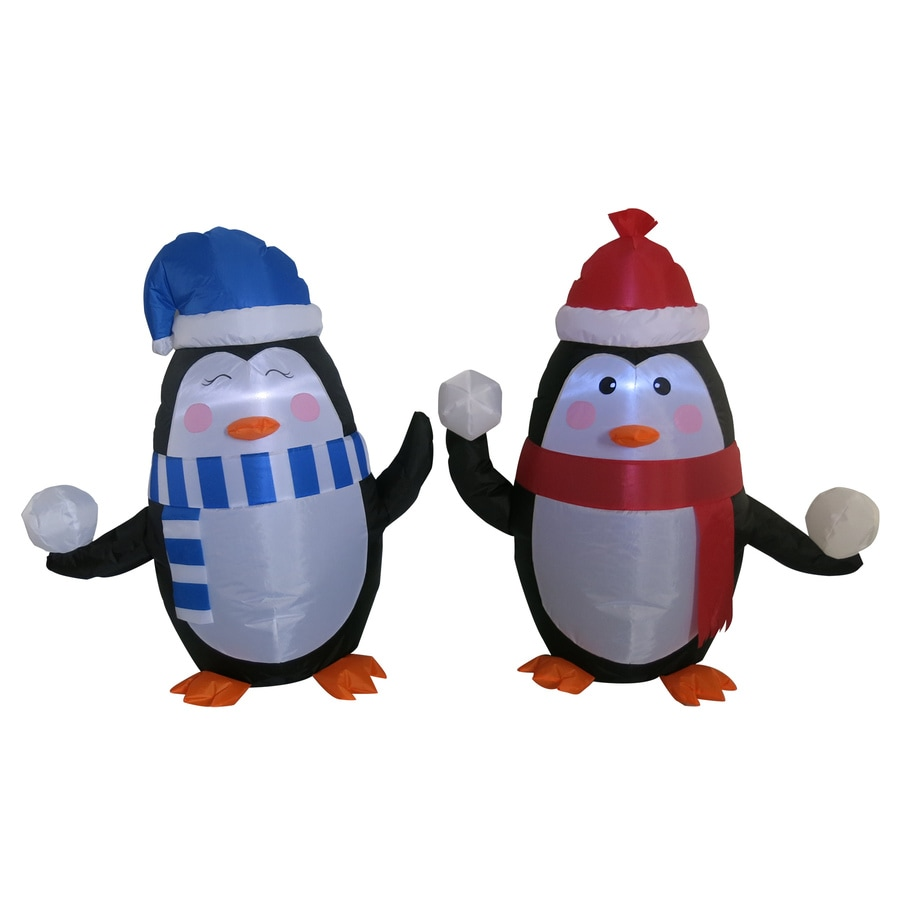 Holiday Living 2.95-ft x 2.6-ft Lighted Penguin Christmas Inflatable