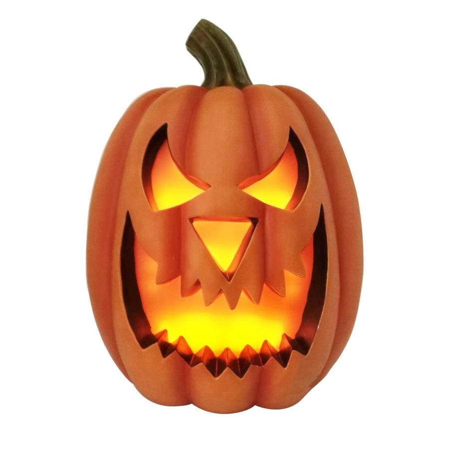 Holiday Living 23 82 Ft Lighted Battery Operated Dc Pumpkin Jack O Lantern In The Outdoor Halloween Decorations Inflatables Department At Lowes Com