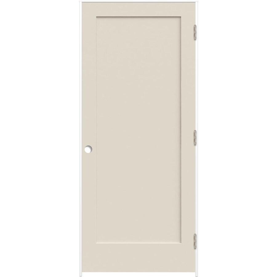 Reliabilt 32x96 In 1 Panel Shaker Single Prehung Lh Swing Smooth Primed Bore