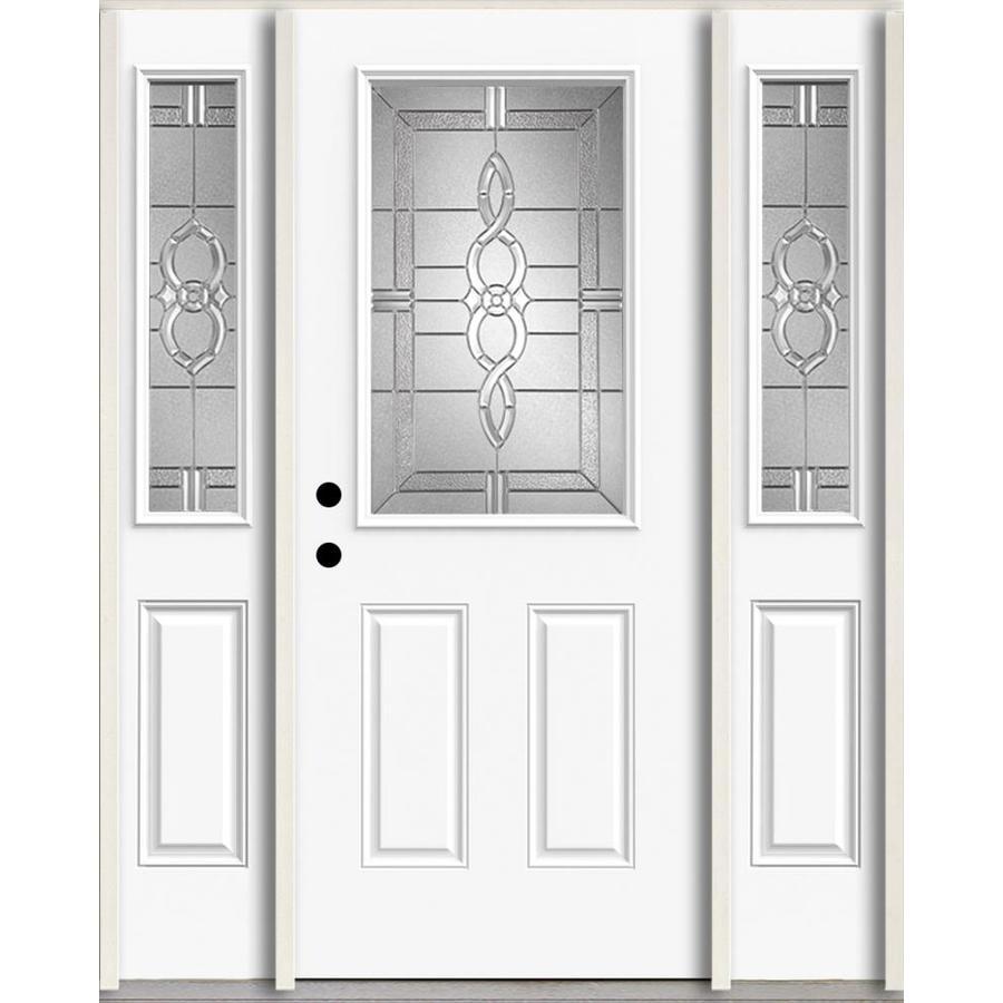 Shop reliabilt calista half lite decorative glass right for Decorative glass for entry doors