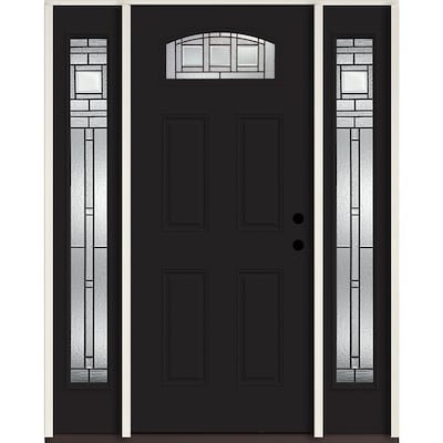 Craftsman Black Front Doors At Lowes Com It's easy to install weatherstripping on exterior home doors using nails or screws to secure wood and hold aluminum thresholds in place. craftsman black front doors at lowes com