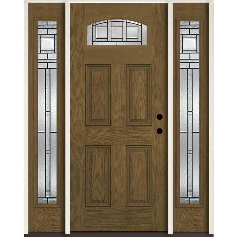 Shop reliabilt craftsman 1 4 lite decorative glass left for Exterior door insulation