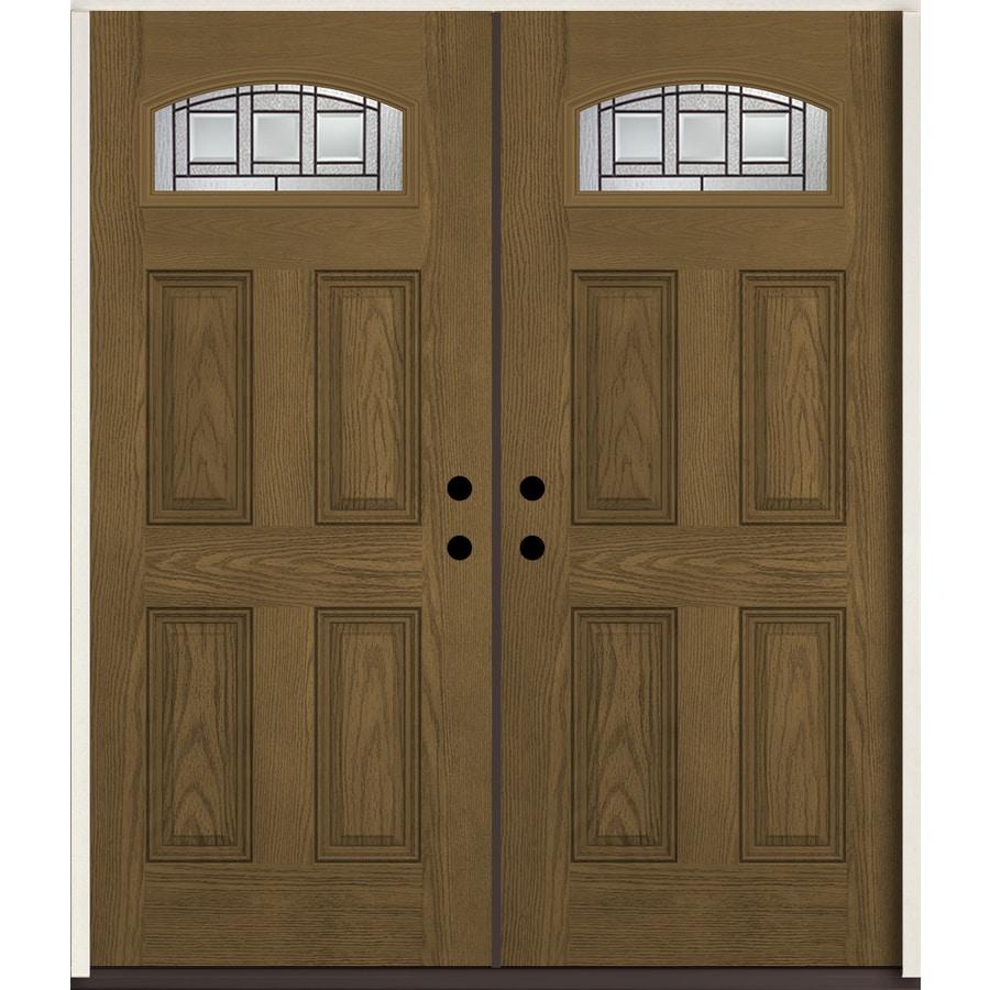 Shop reliabilt craftsman 1 4 lite decorative glass left for 72 x 80 exterior door