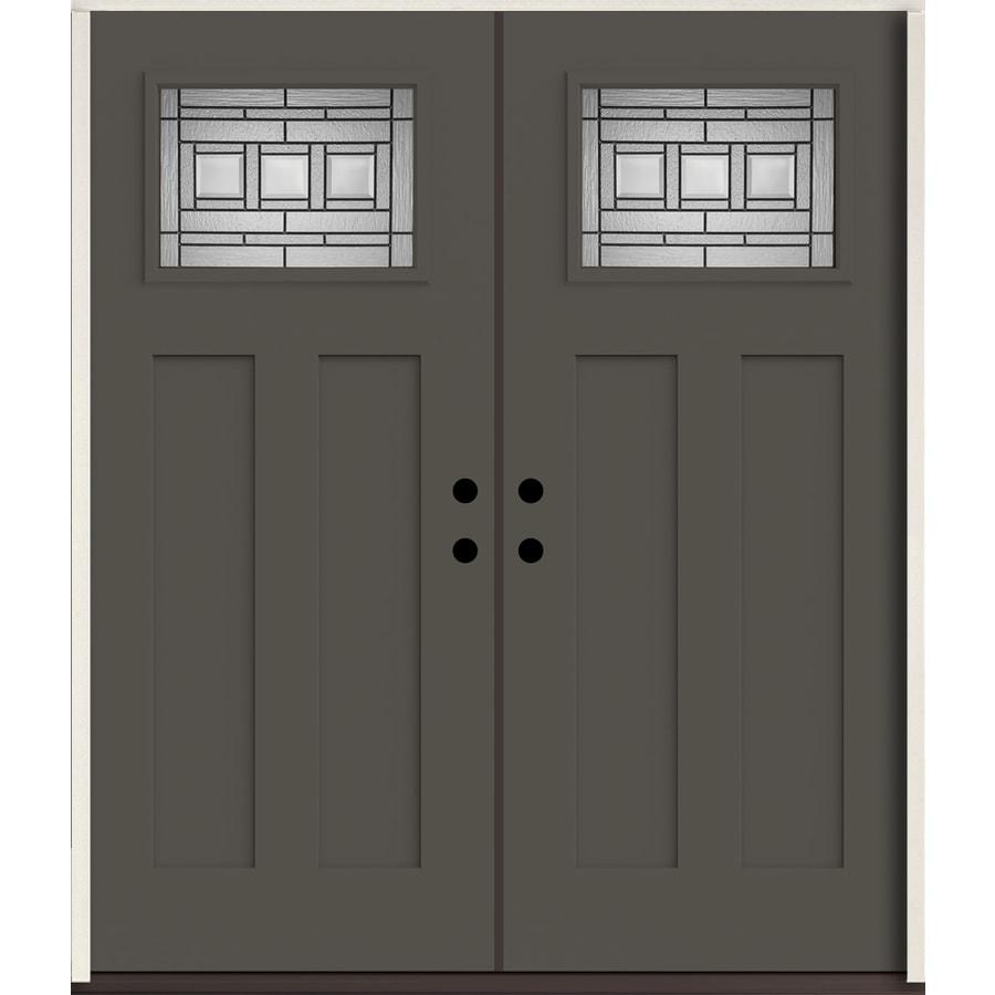 Shop reliabilt craftsman decorative glass left hand for 72 x 80 exterior door