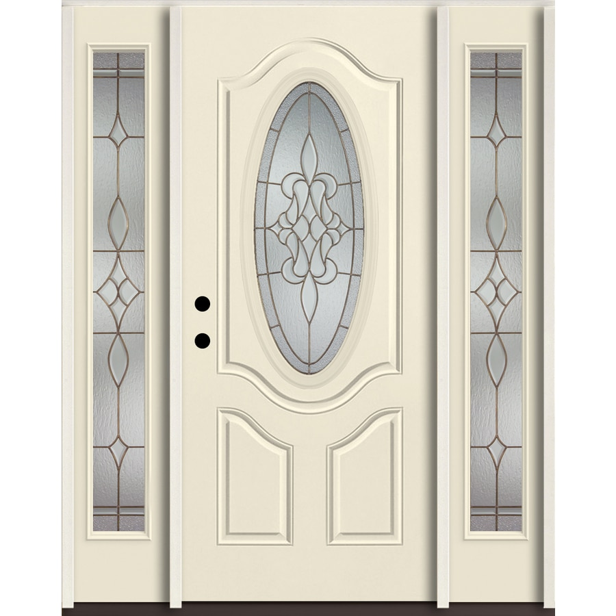 Shop reliabilt stately oval lite decorative glass right for Decorative glass for entry doors