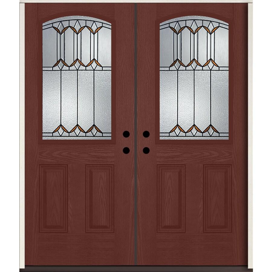 Shop reliabilt park hill half lite decorative glass right for 72 x 80 exterior door