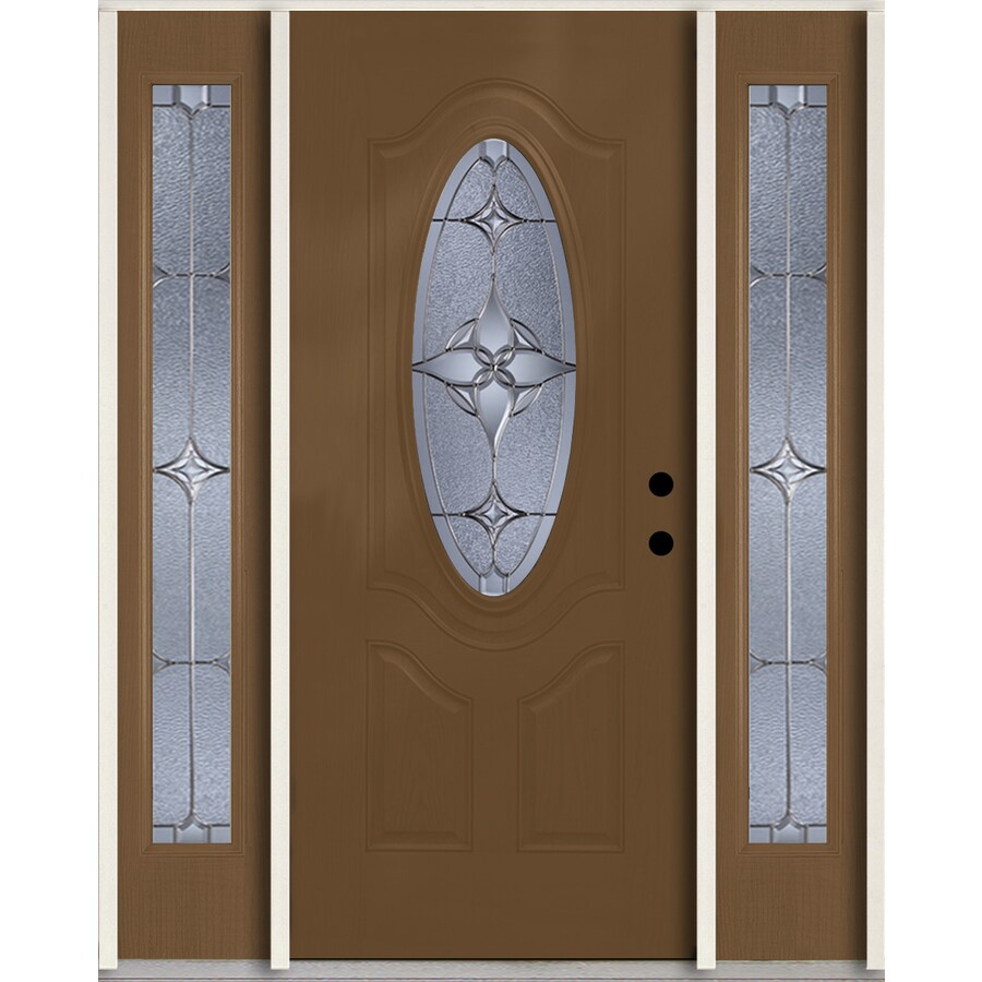 Shop reliabilt astrid oval lite decorative glass left hand for Decorative glass for entry doors