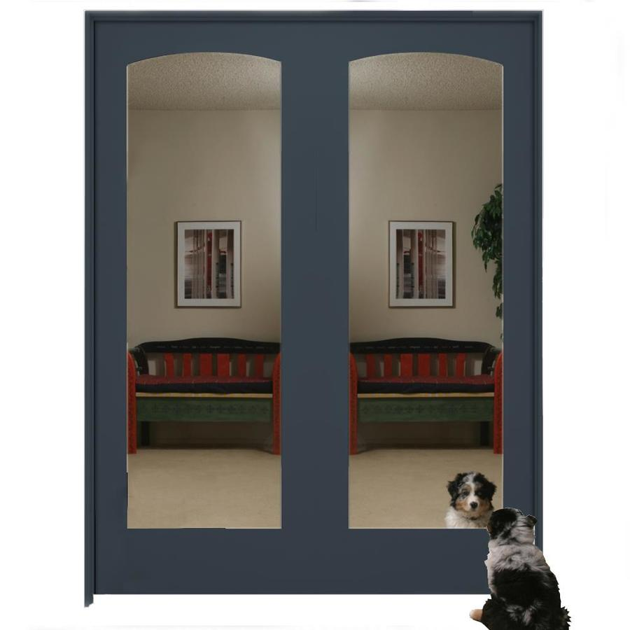 Millennium Collection Ovation Slate Solid Core Mirrored Gl Mdf Double Pre Hung Door Common 60 In X 80 Actual 61 375 81 6875
