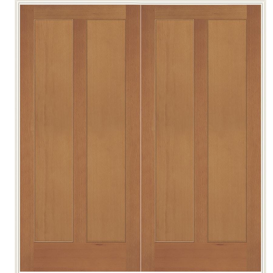 Simpson Brown Solid Core Wood Fir Double Prehung Door