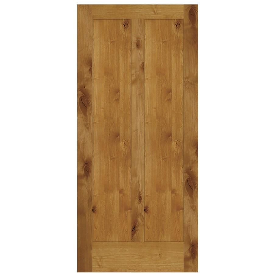 Brown Wood Interior Doors: SIMPSON Brown Solid Core Wood Knotty Alder Slab Door