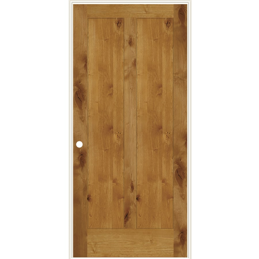 Simpson Brown Solid Core Wood Knotty Alder Single Prehung