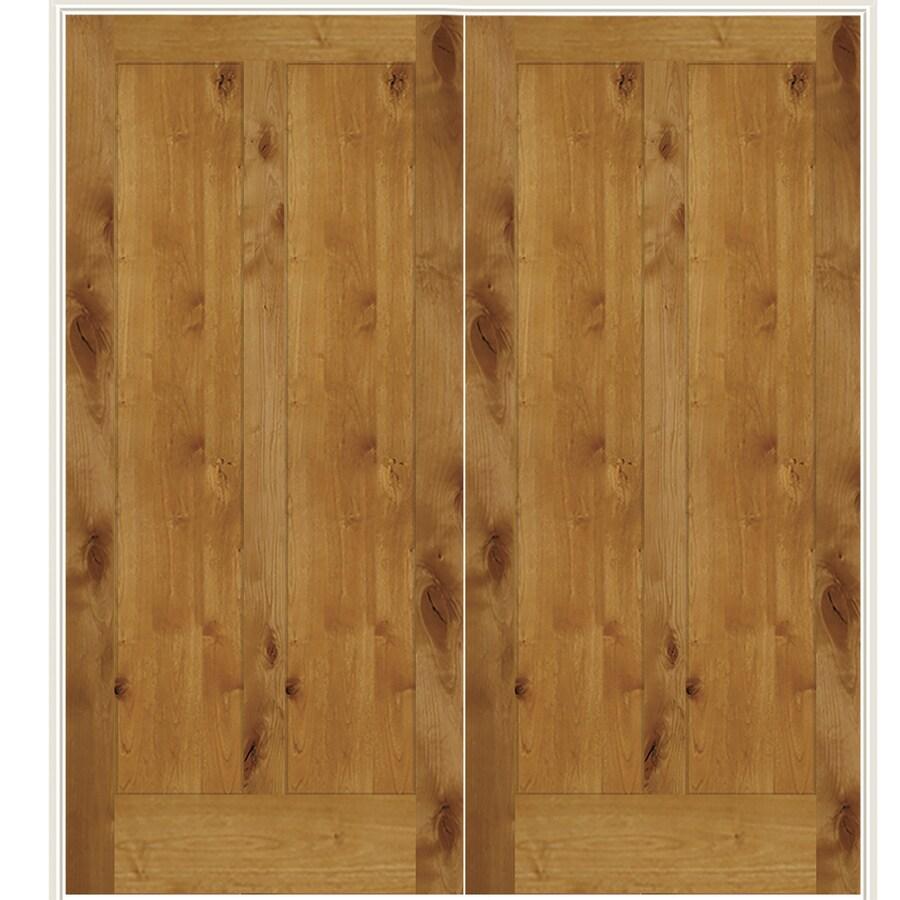 Simpson Brown Solid Core Wood Knotty Alder Double Prehung