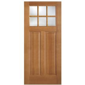 Simpson 1 4 Lite Clear Gl Universal Reversible Brown Wood Slab Entry Door Solid Core