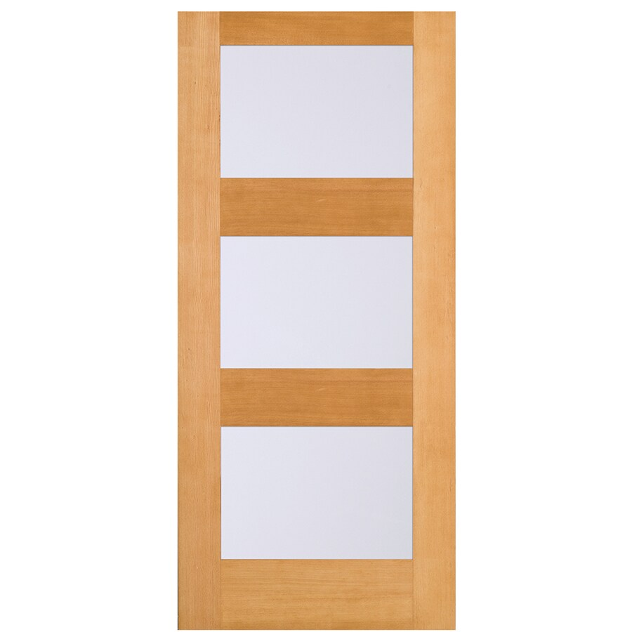 Simpson Full Lite Frosted Glass Universal Reversible Brown
