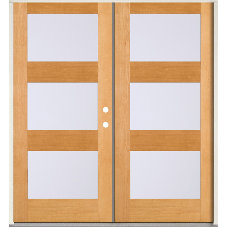 Used Mobile Home Doors Exterior: SIMPSON Full Lite Frosted Glass Left-Hand Inswing Brown