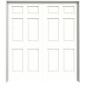 Reliabilt Colonist Textured Primed 6 Panel Hollow Core Molded Composite Double Pre Hung Door