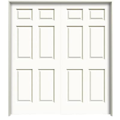 Colonist Smooth Primed 6 Panel Hollow Core Molded Composite Pre Hung Door Common 48 In X 80 In Actual 49 375 In X 82 1875 In