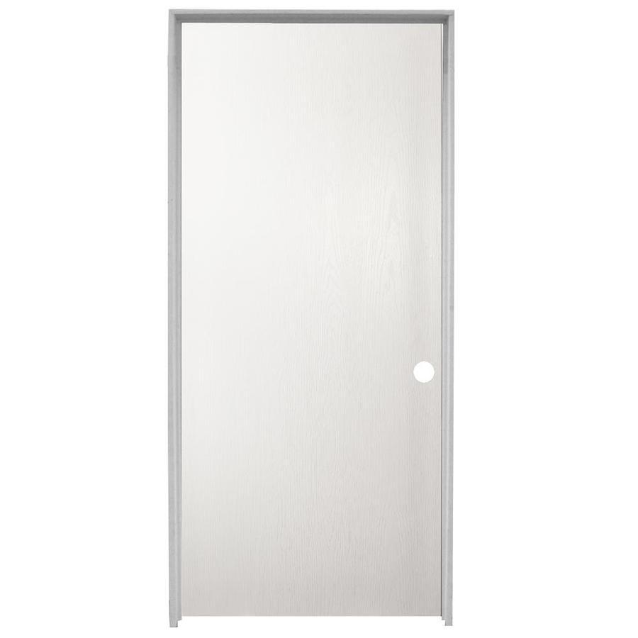 ReliaBilt Flush Single Prehung Interior Door (Common: 36-in X 80-in; Actual: 37.5-in x 81.5-in)