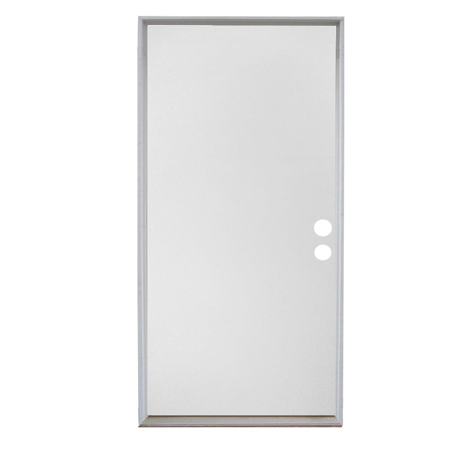 Shop reliabilt flush solid wood core left hand inswing for Solid flush door