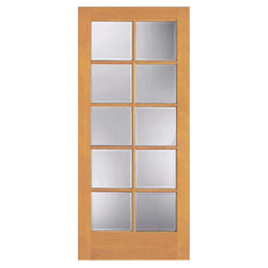 ReliaBilt Clear Glass Pine Slab Interior Door (Common: 36-in x 80-in; Actual: 36-in x 80-in)