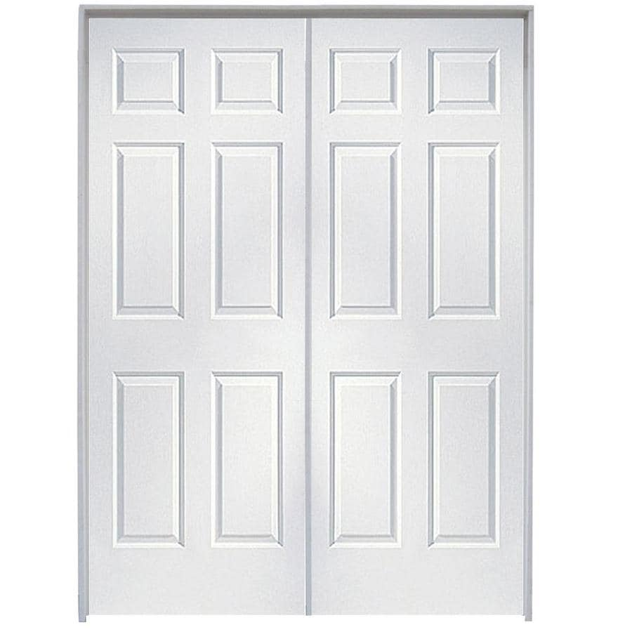 Shop reliabilt primed hollow core molded composite french interior door common 48 in x 80 in - Hollow core interior doors lowes ...