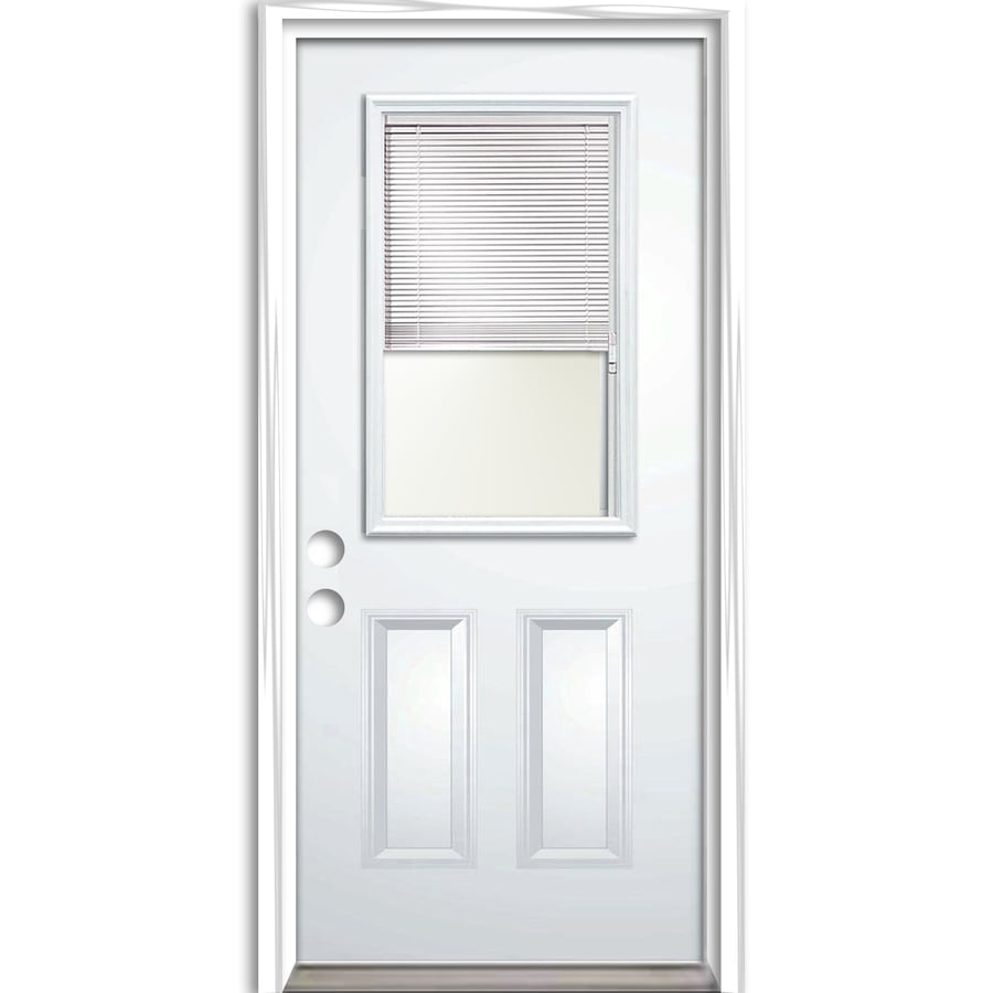 ReliaBilt Prehung Entry Door (Common: 32-in x 80-in; Actual: 33.5-in x 81.75-in)